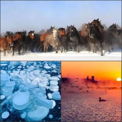 12月22日行摄新疆-浪漫天鹅泉-赛湖蓝冰-冰雪草原(1)