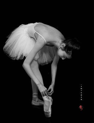 国庆园博园芭蕾舞蹈人像